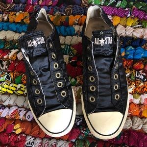 Converse All Star Laceless Satin Sneakers Size 8
